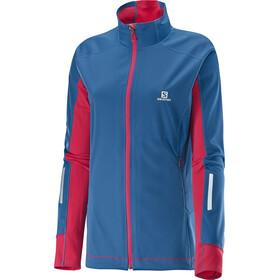 Salomon W's Equipe Softshell Jacket Dolomite Blue / Lotus Pink
